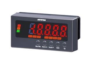 測温抵抗体入力パネルメータ 平均化処理で表示のちらつきを解消
