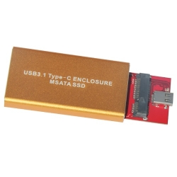 Type-C to MSATA SSD Enclosure